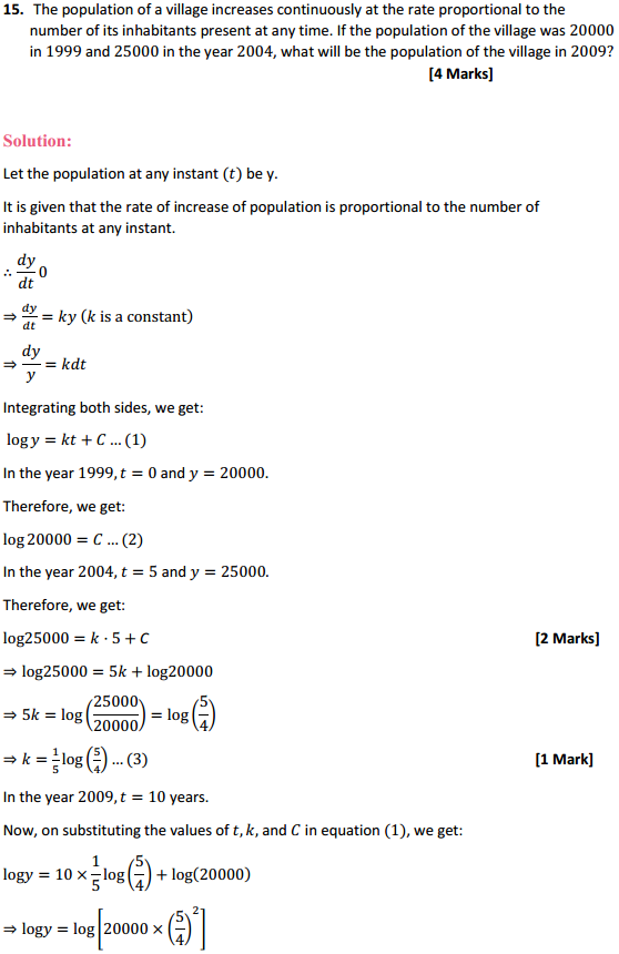 NCERT Solutions for Class 12 Maths Chapter 9 Differential Equations Miscellaneous Exercise 31