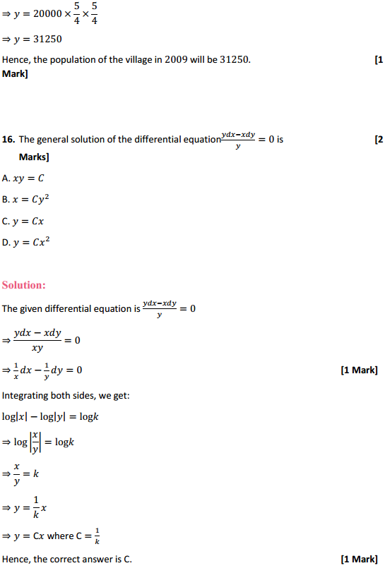 NCERT Solutions for Class 12 Maths Chapter 9 Differential Equations Miscellaneous Exercise 32