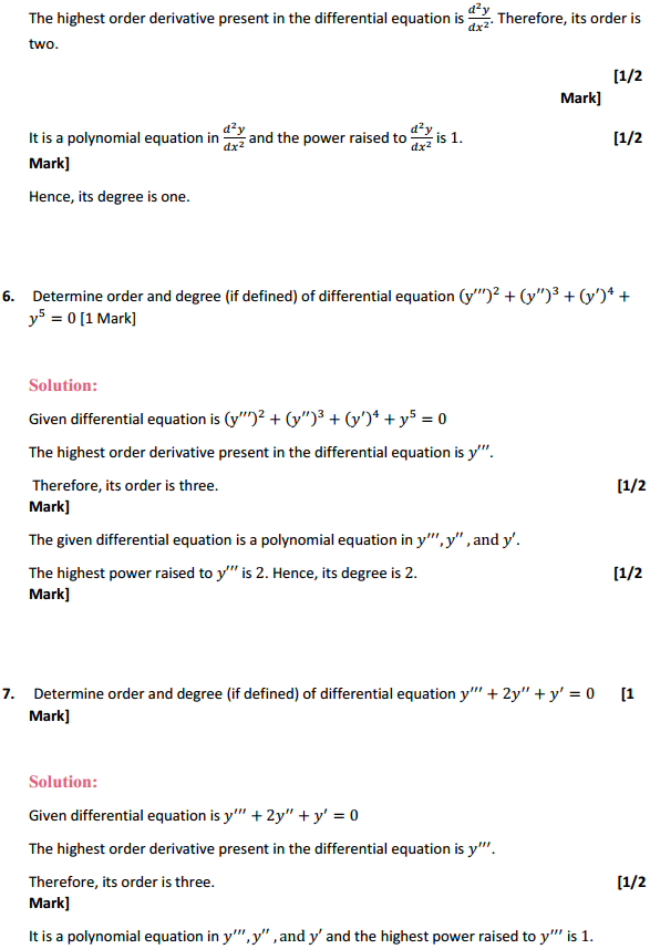 NCERT Solutions for Class 12 Maths Chapter 9 Differential Equations Ex 9.1 3