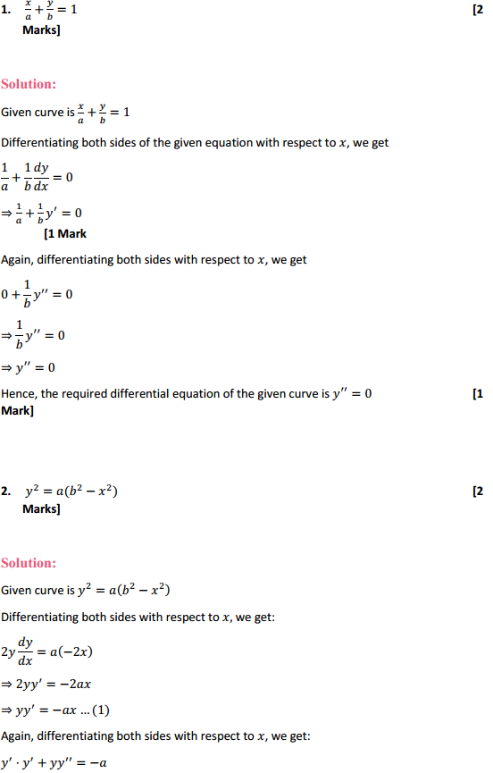 NCERT Solutions for Class 12 Maths Chapter 9 Differential Equations Ex 9.3 2