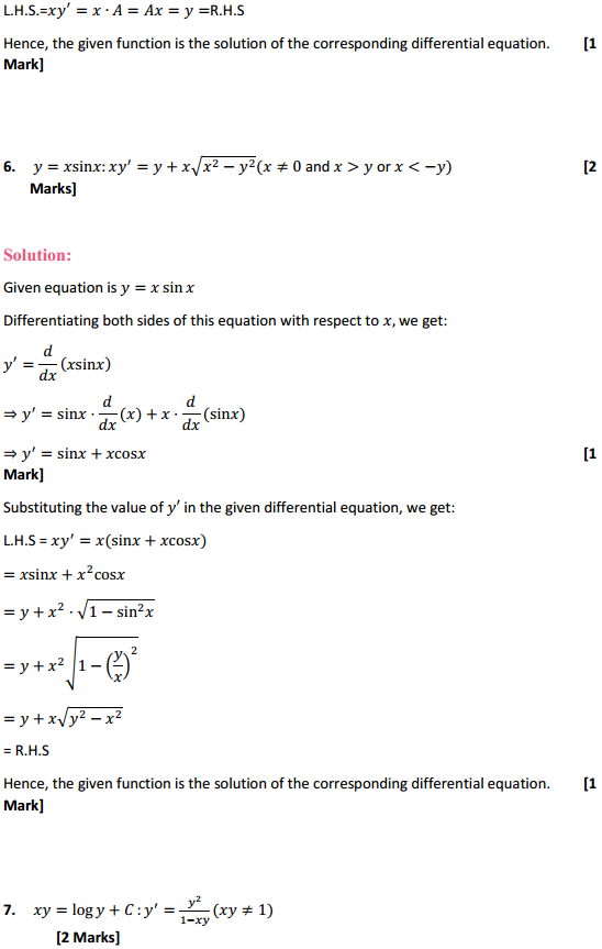 NCERT Solutions for Class 12 Maths Chapter 9 Differential Equations Ex 9.2 4