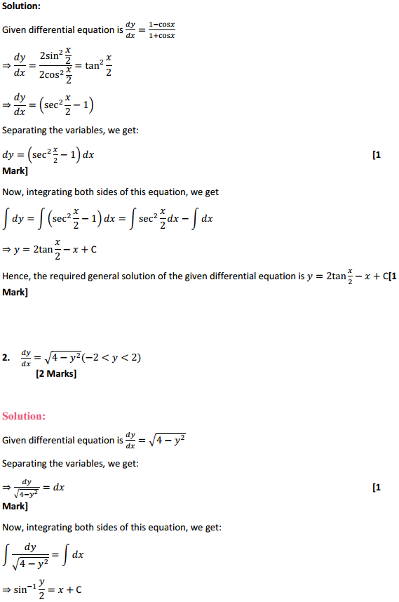 NCERT Solutions for Class 12 Maths Chapter 9 Differential Equations Ex 9.4 2