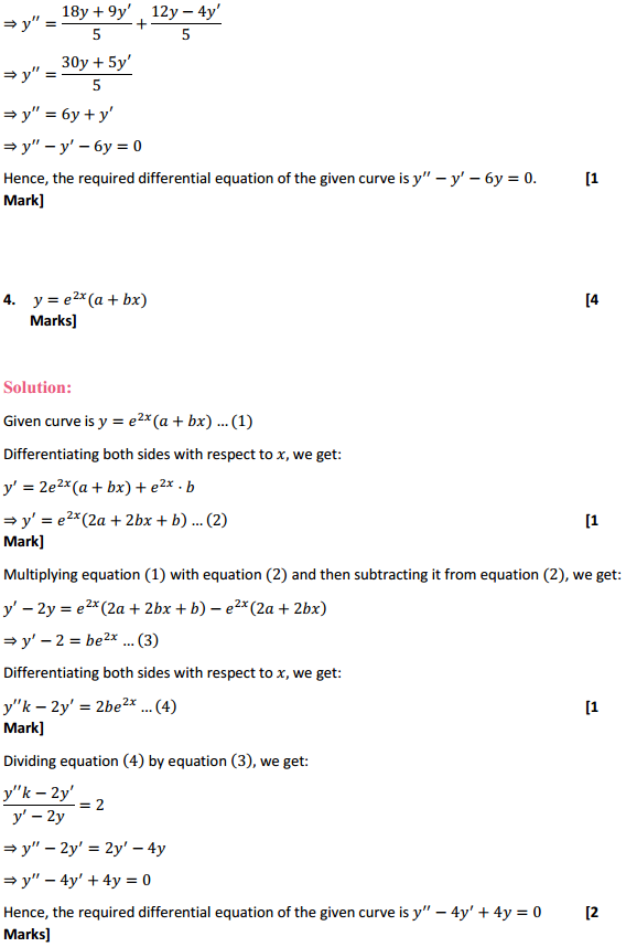 NCERT Solutions for Class 12 Maths Chapter 9 Differential Equations Ex 9.3 4