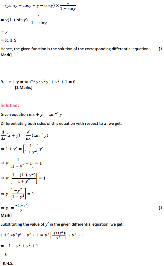 NCERT Solutions for Class 12 Maths Chapter 9 Differential Equations Ex 9.2 6