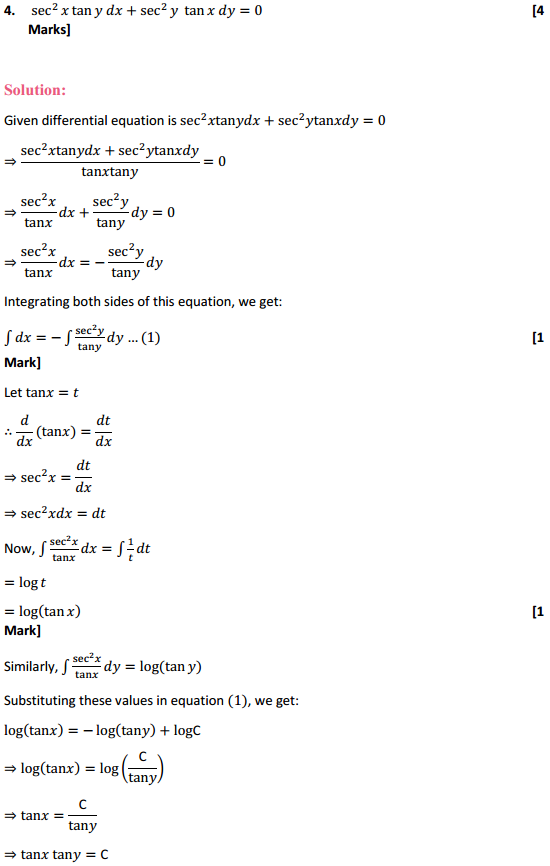 NCERT Solutions for Class 12 Maths Chapter 9 Differential Equations Ex 9.4 4