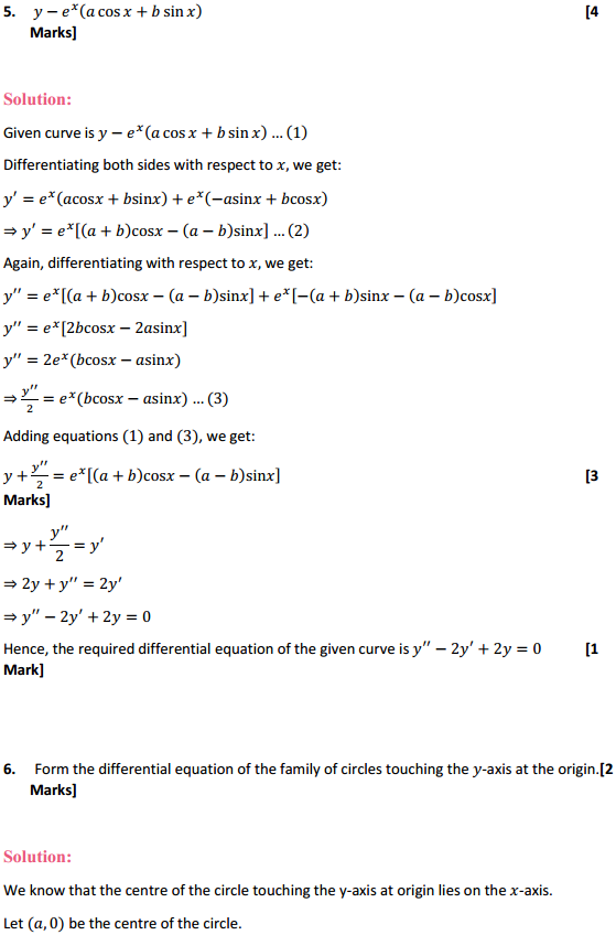 NCERT Solutions for Class 12 Maths Chapter 9 Differential Equations Ex 9.3 5