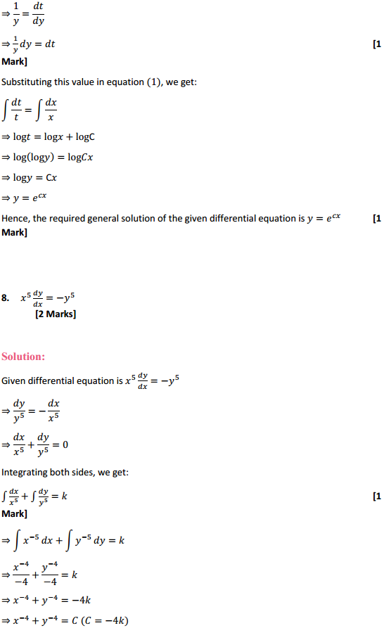 NCERT Solutions for Class 12 Maths Chapter 9 Differential Equations Ex 9.4 7