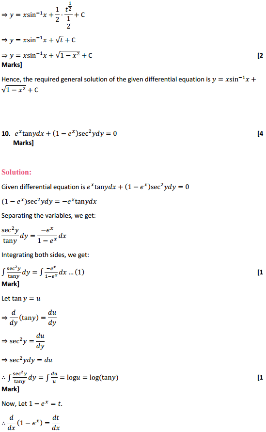NCERT Solutions for Class 12 Maths Chapter 9 Differential Equations Ex 9.4 9