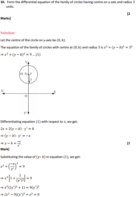 NCERT Solutions for Class 12 Maths Chapter 9 Differential Equations Ex 9.3 10