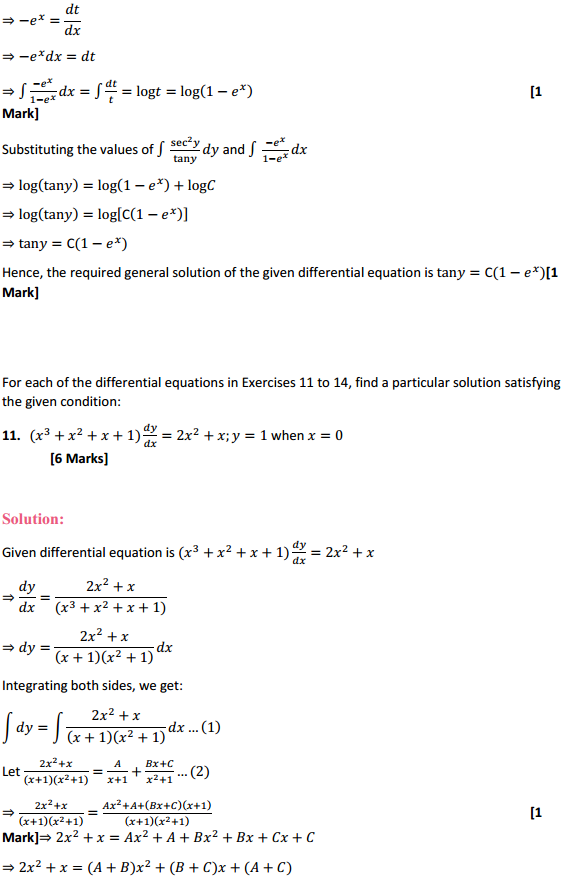 NCERT Solutions for Class 12 Maths Chapter 9 Differential Equations Ex 9.4 10