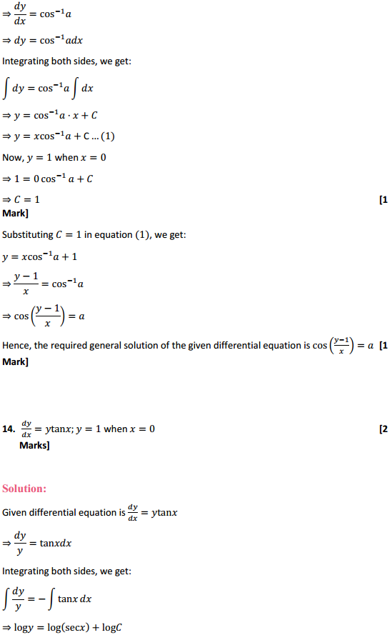 NCERT Solutions for Class 12 Maths Chapter 9 Differential Equations Ex 9.4 14