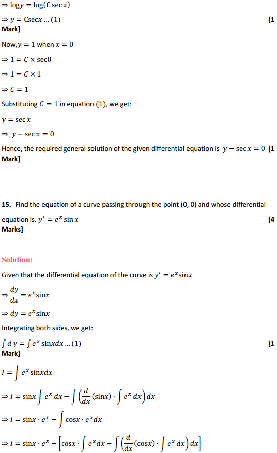 NCERT Solutions for Class 12 Maths Chapter 9 Differential Equations Ex 9.4 15