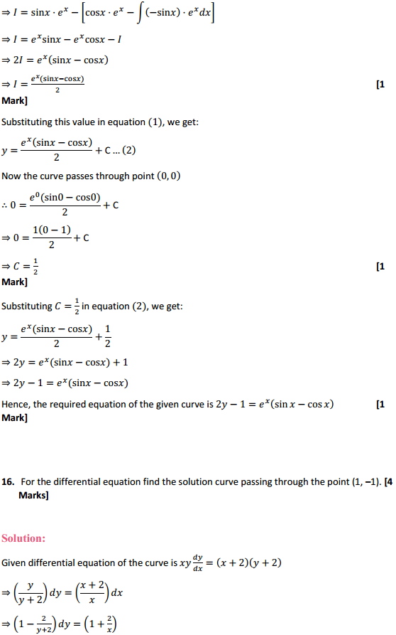 NCERT Solutions for Class 12 Maths Chapter 9 Differential Equations Ex 9.4 16