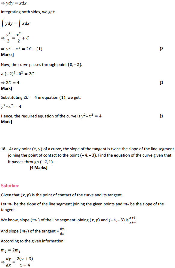 NCERT Solutions for Class 12 Maths Chapter 9 Differential Equations Ex 9.4 18