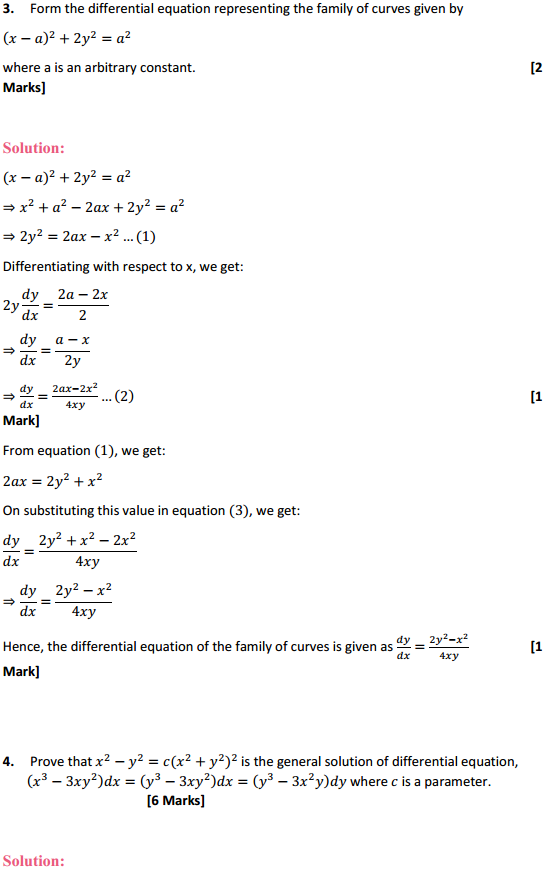 NCERT Solutions for Class 12 Maths Chapter 9 Differential Equations Miscellaneous Exercise 9