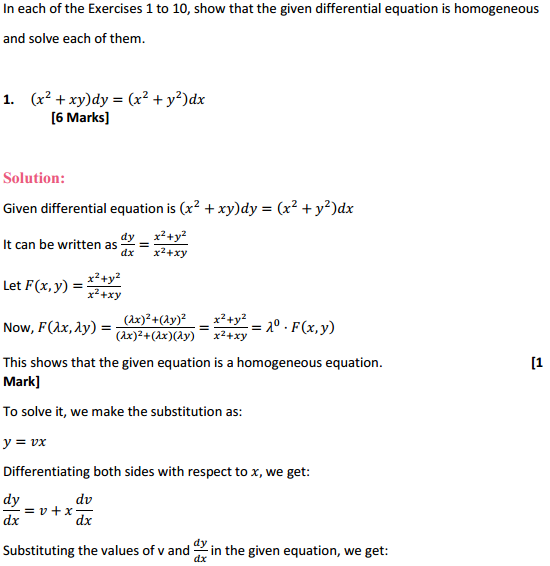NCERT Solutions for Class 12 Maths Chapter 9 Differential Equations Ex 9.5 1
