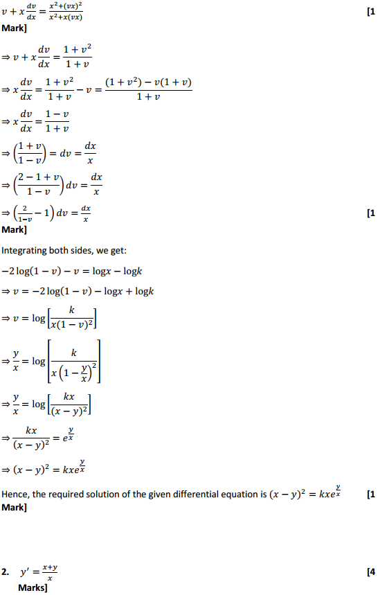 NCERT Solutions for Class 12 Maths Chapter 9 Differential Equations Ex 9.5 2