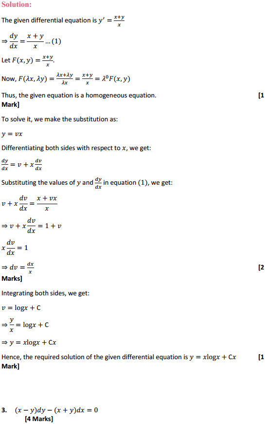 NCERT Solutions for Class 12 Maths Chapter 9 Differential Equations Ex 9.5 3