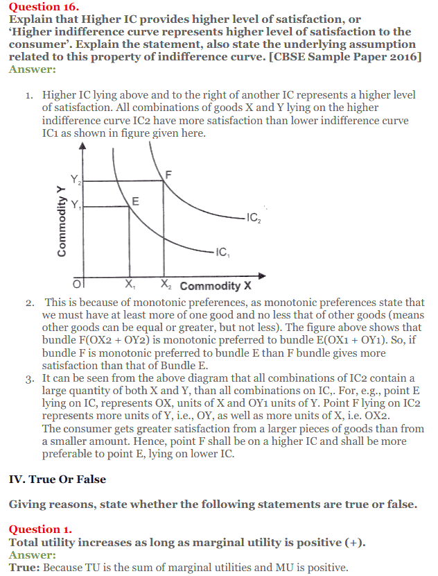 NCERT Solutions for Class 12 Micro Economics Chapter 2 Consumer Equilibrium 32