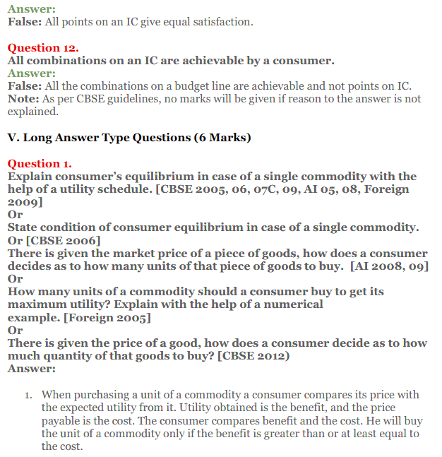 NCERT Solutions for Class 12 Micro Economics Chapter 2 Consumer Equilibrium 36