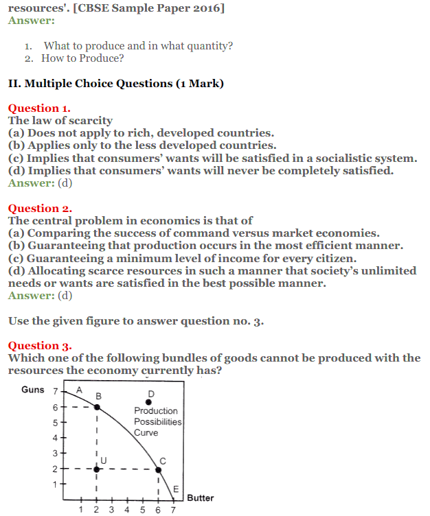NCERT Solutions for Class 12 Micro Economics Chapter 1 Introduction to Economics 9
