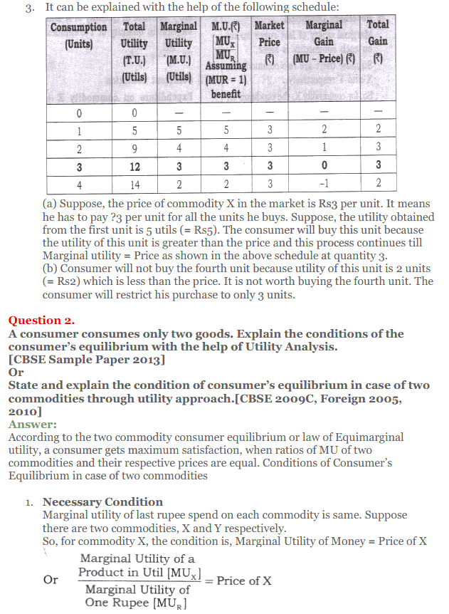 NCERT Solutions for Class 12 Micro Economics Chapter 2 Consumer Equilibrium 38