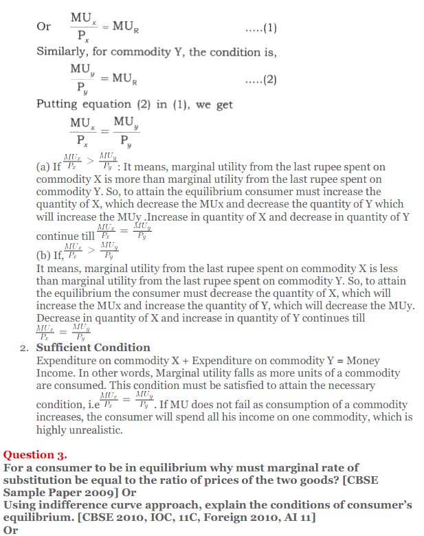 NCERT Solutions for Class 12 Micro Economics Chapter 2 Consumer Equilibrium 39