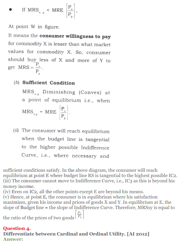 NCERT Solutions for Class 12 Micro Economics Chapter 2 Consumer Equilibrium 43
