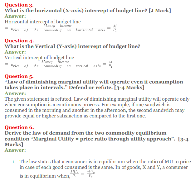 NCERT Solutions for Class 12 Micro Economics Chapter 2 Consumer Equilibrium 46