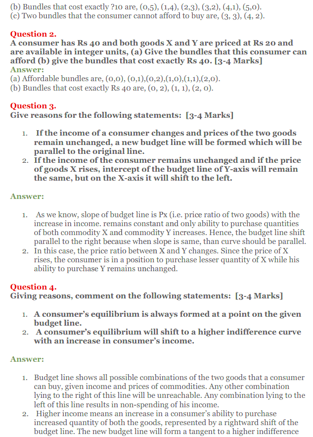 NCERT Solutions for Class 12 Micro Economics Chapter 2 Consumer Equilibrium50