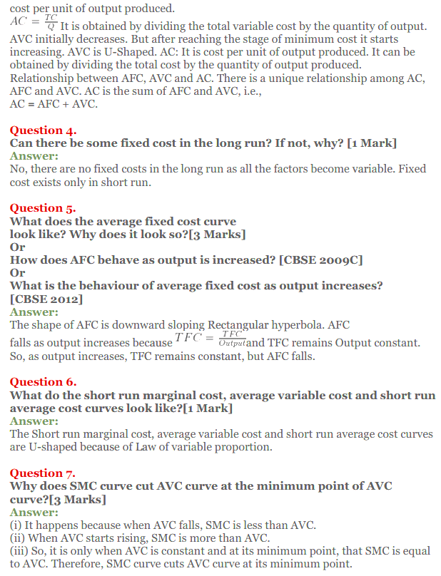 NCERT Solutions for Class 12 Micro Economics Chapter 6 Cost 2
