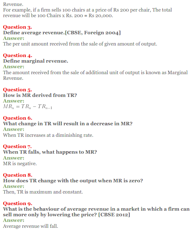 NCERT Solutions for Class 12 Micro Economics Chapter 8 Revenue 5