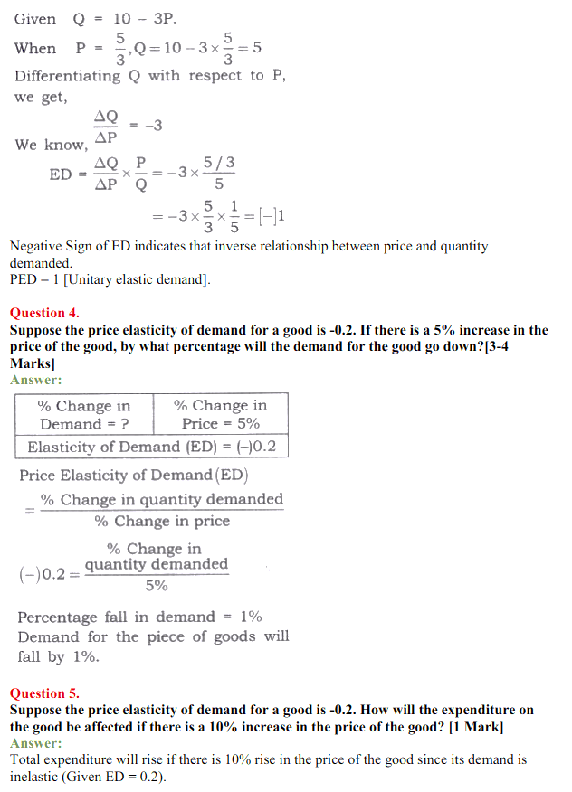 NCERT Solutions for Class 12 Micro Economics Chapter 4 Elasticity of Demand 2