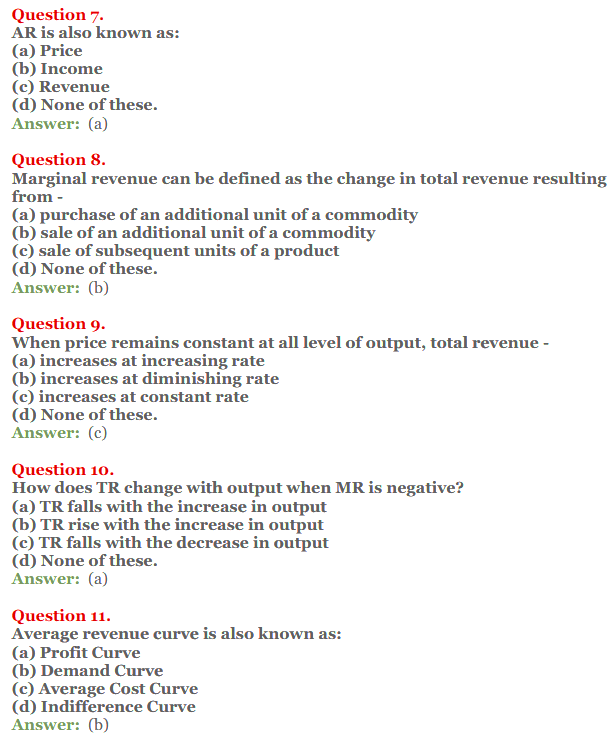 NCERT Solutions for Class 12 Micro Economics Chapter 8 Revenue 9