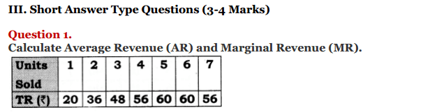 NCERT Solutions for Class 12 Micro Economics Chapter 8 Revenue 10