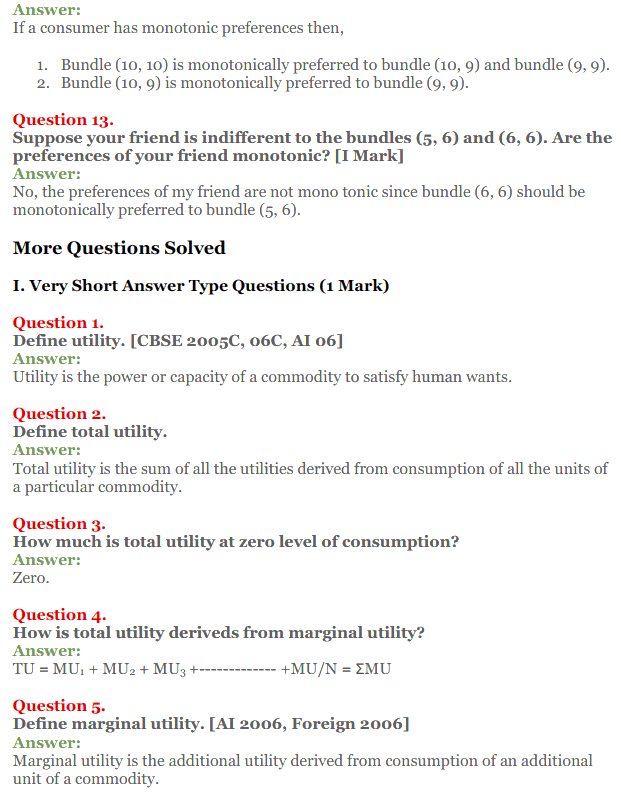NCERT Solutions for Class 12 Micro Economics Chapter 2 Consumer Equilibrium 6
