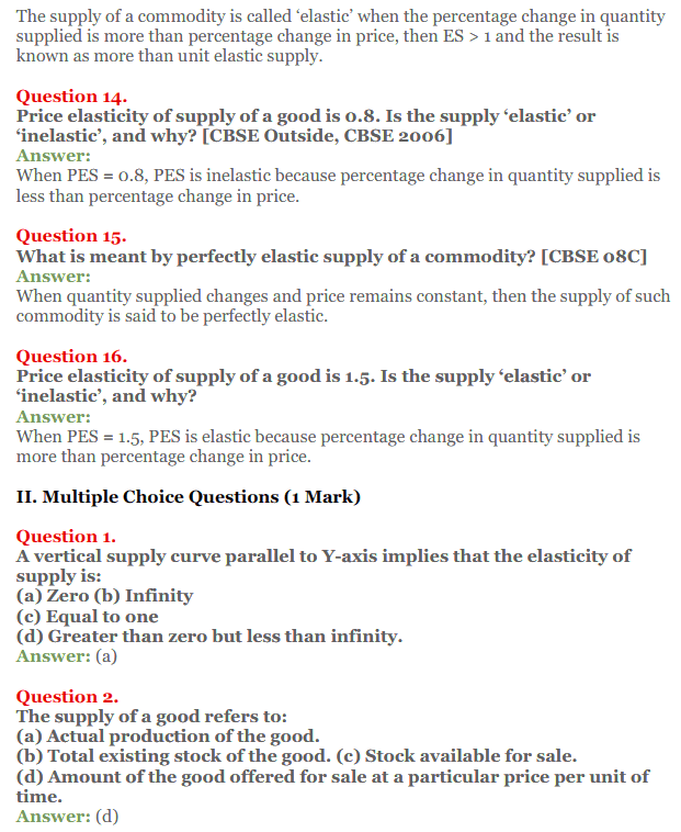 NCERT Solutions for Class 12 Micro Economics Chapter 7 Supply 13