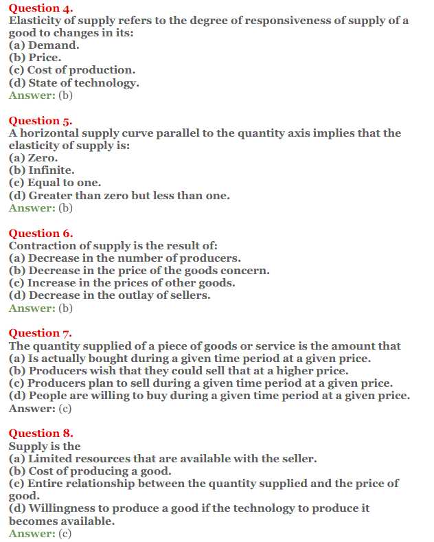 NCERT Solutions for Class 12 Micro Economics Chapter 7 Supply 15