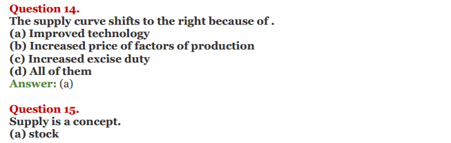 NCERT Solutions for Class 12 Micro Economics Chapter 7 Supply 18