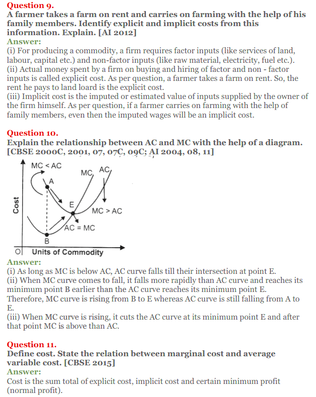 NCERT Solutions for Class 12 Micro Economics Chapter 6 Cost 25