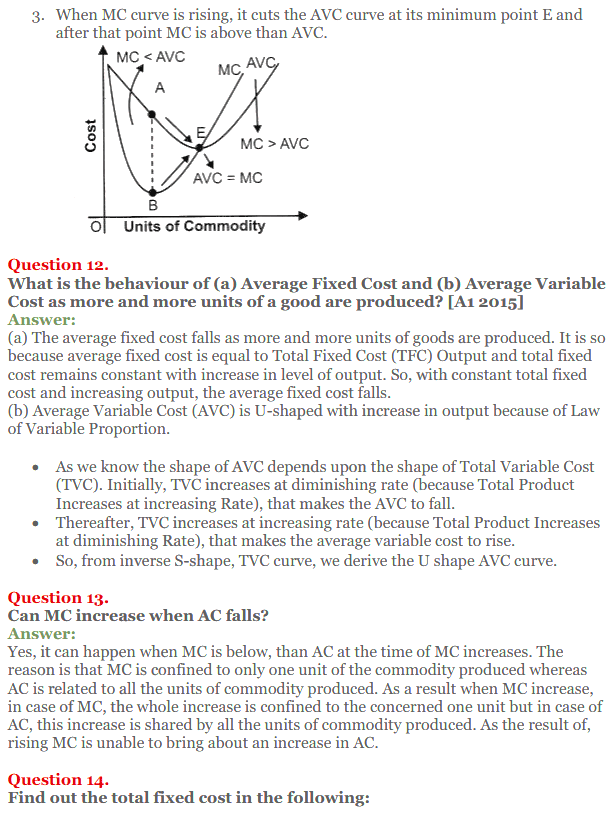 NCERT Solutions for Class 12 Micro Economics Chapter 6 Cost 27