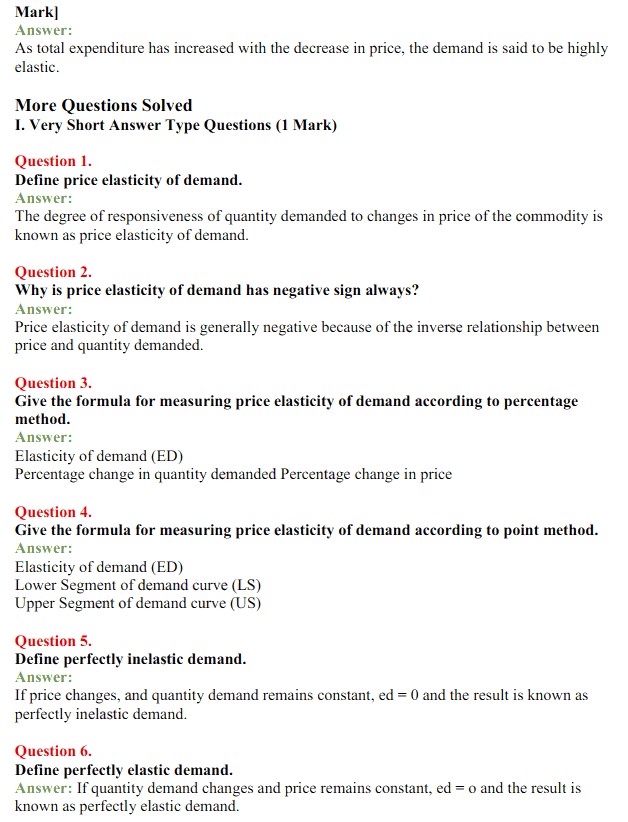 NCERT Solutions for Class 12 Micro Economics Chapter 4 Elasticity of Demand 4
