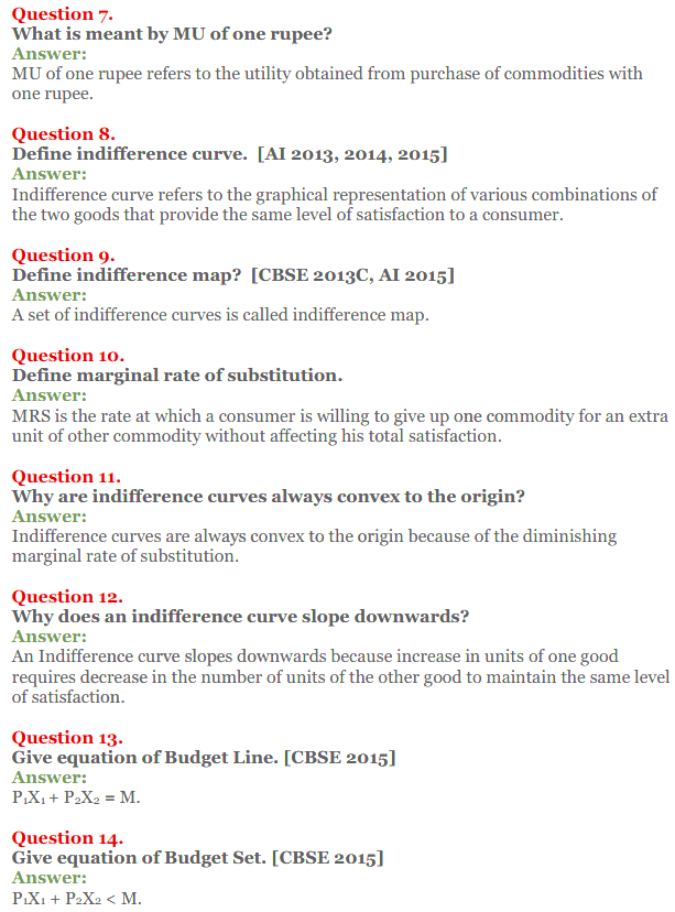 NCERT Solutions for Class 12 Micro Economics Chapter 2 Consumer Equilibrium 8