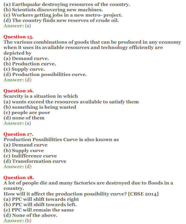 NCERT Solutions for Class 12 Micro Economics Chapter 1 Introduction to Economics 15