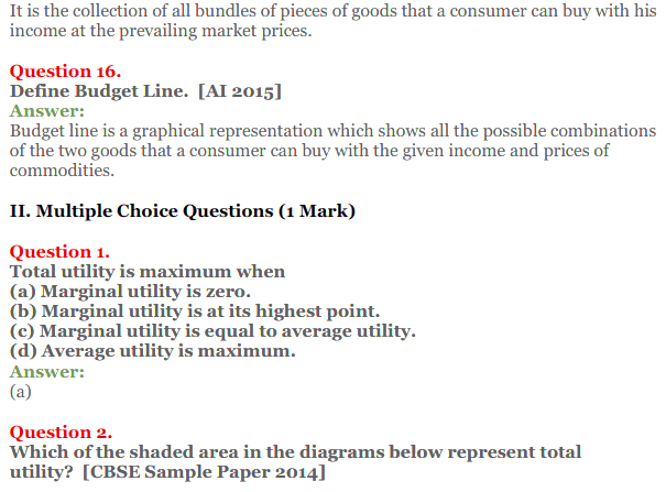 NCERT Solutions for Class 12 Micro Economics Chapter 2 Consumer Equilibrium 10