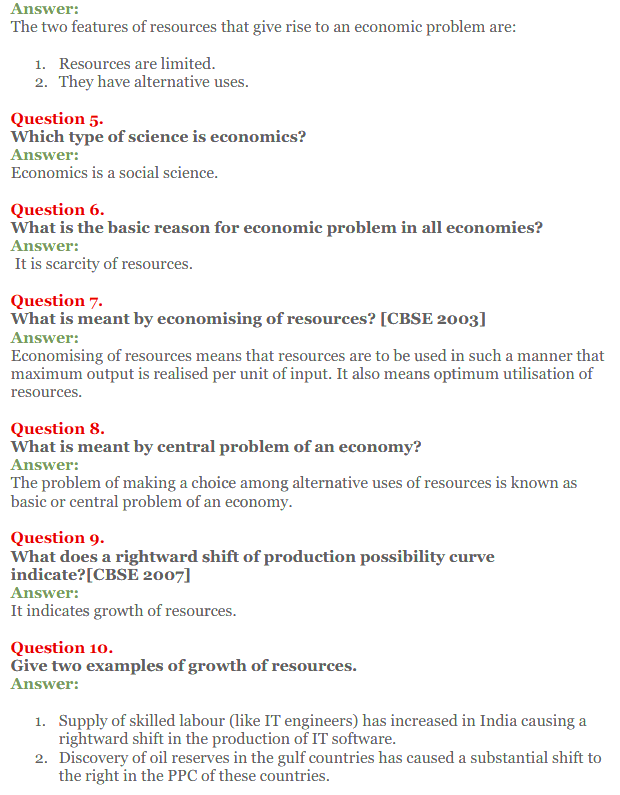 NCERT Solutions for Class 12 Micro Economics Chapter 1 Introduction to Economics 5