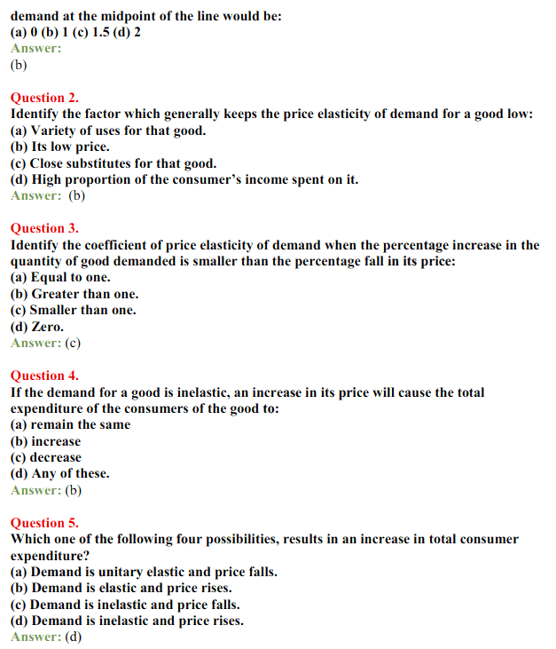 NCERT Solutions for Class 12 Micro Economics Chapter 4 Elasticity of Demand 8