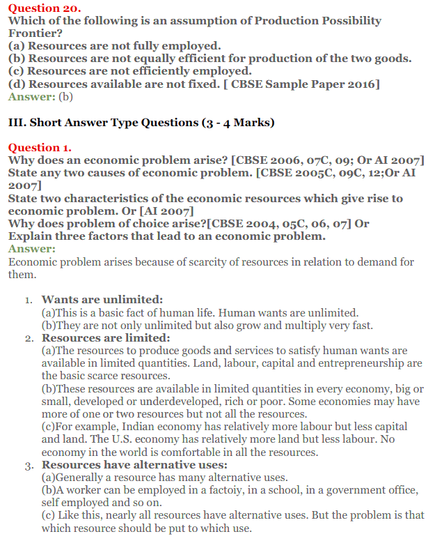 NCERT Solutions for Class 12 Micro Economics Chapter 1 Introduction to Economics 17