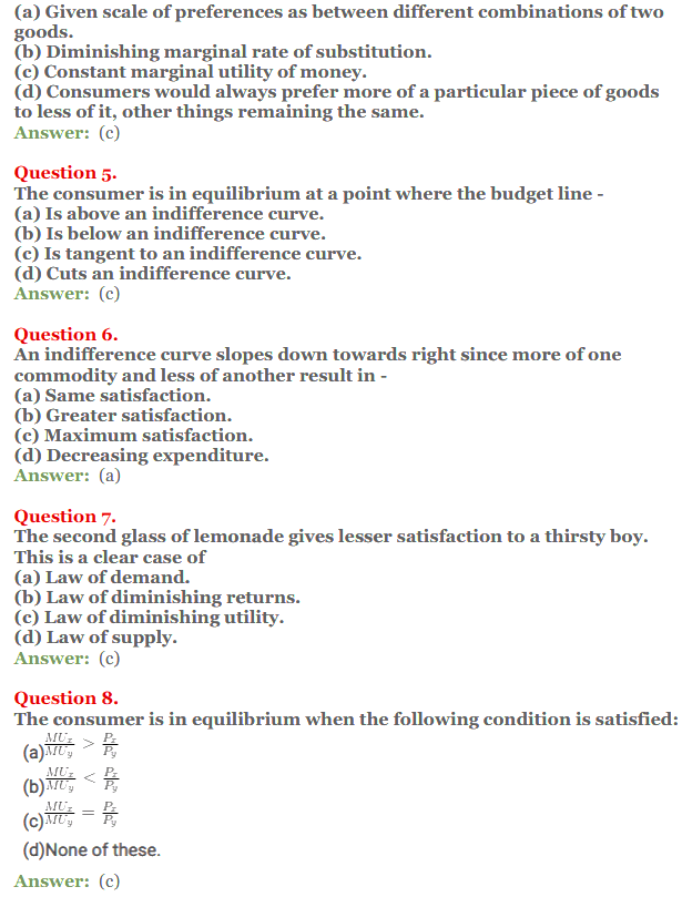 NCERT Solutions for Class 12 Micro Economics Chapter 2 Consumer Equilibrium 13