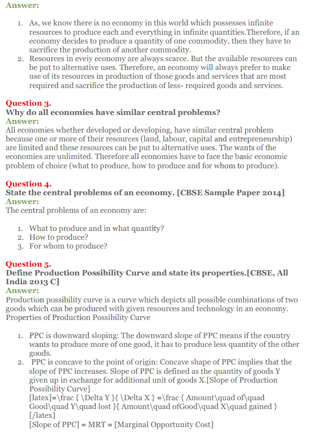 NCERT Solutions for Class 12 Micro Economics Chapter 1 Introduction to Economics 19